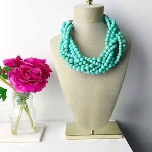 Handmade twisted turquoise necklace